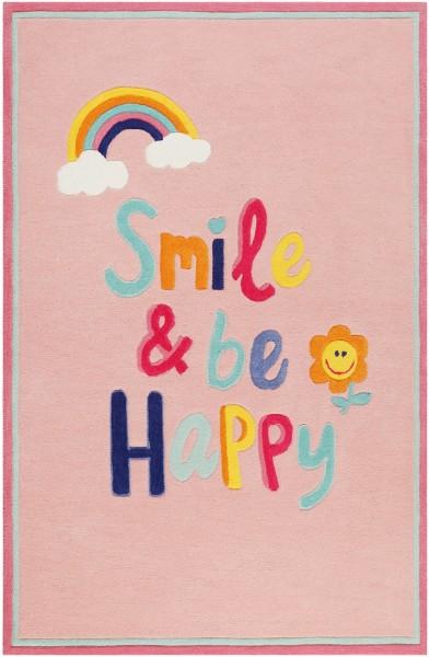 Kinder Teppich Smart Kids Happy me! SM-4328-03 rosa