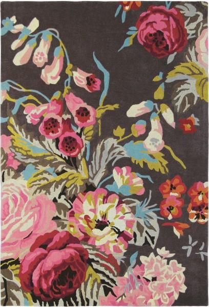Kurzflor Designer Teppich Sanderson Stapleton Park 45302 Rosewood multicolor