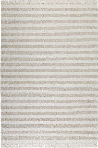 teppich carpets co noble stripes go 0010 04 beige weiss raum quadrat fashion your room der. Black Bedroom Furniture Sets. Home Design Ideas