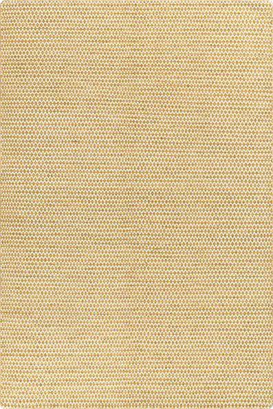 Kurzflor Designer Teppich Angelo Mic-Mac 3030-33 senf gelb weiss