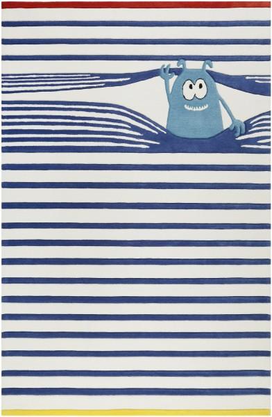 Kinder Teppich Esprit Benno ESP-4245-01 blau weiss