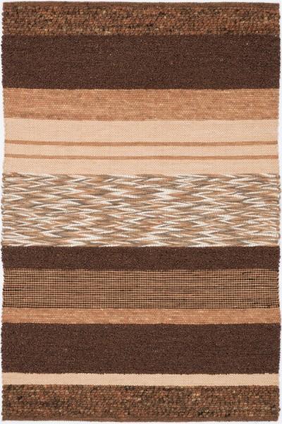 Kurzflor Designer Teppich Paulig Art Weave 62 braun