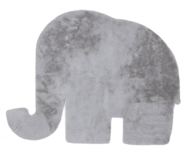 Kinder Teppich Obsession Luna Elefant 854 silber