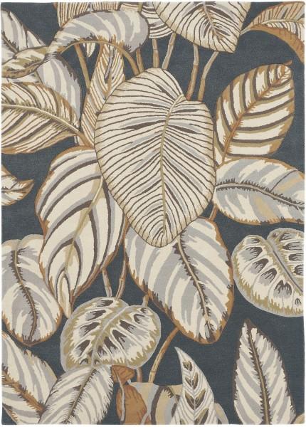 Kurzflor Designer Teppich Sanderson Calathea 050805 Charcoal grau multicolor