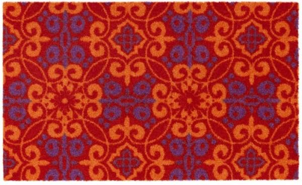 Sauberlaufmatte Schöner Wohnen Wall Street Marokko 004 rot orange lila