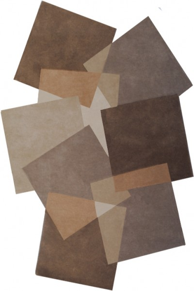 Kurzflor Designer Teppich Angelo Pebbles Quadrate 9718-632 beige