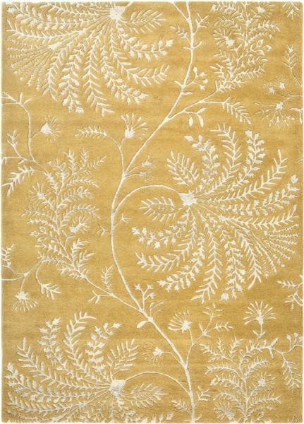 Kurzflor Designer Teppich Sanderson Mapperton 45906 Linden gelb